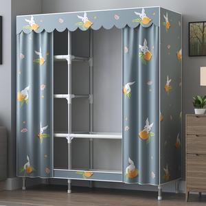 布衣柜子结实耐用小型网红衣柜经济型出租房用挂衣橱内置收纳卧室