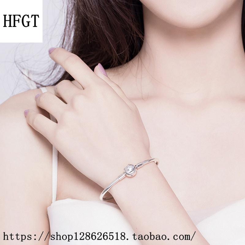 高档HFGT新款原创星空银河繁星童话星星基础手镯串珠手链S925纯银