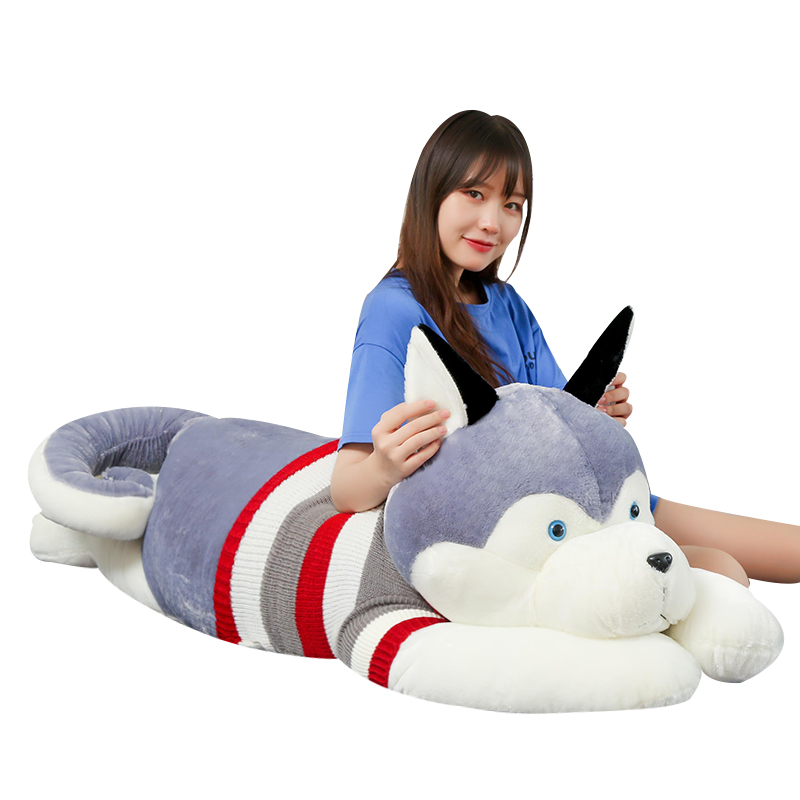 哈士奇公仔狗狗熊毛绒玩具可爱抱枕评价好不好