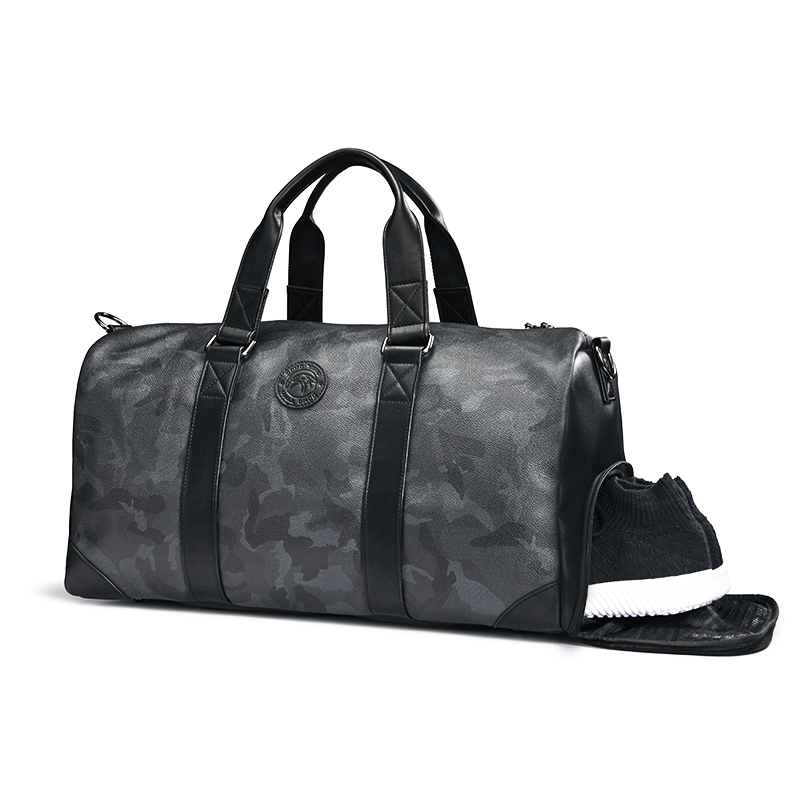 Travel bags Men carry large capacity camouflage Tide fitness bags on business travel short-distance luggage bags with one shoulder inclined bag