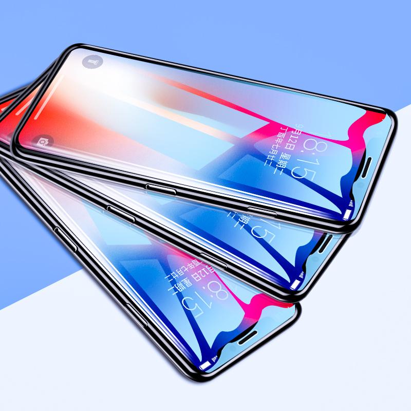 iPhoneX钢化膜xr苹果x手机7贴膜XsMax全屏6s覆盖plus抗蓝光原装xs全包6防指纹屏保i8刚化玻璃P全包边5s保护se