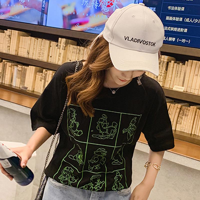 女装 复古短袖帅气 年轻人潮流搭配社区热门综艺同款穿搭合集 t恤