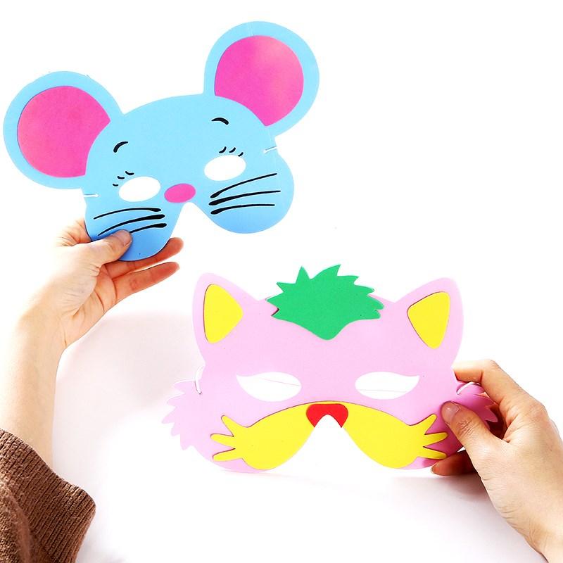 儿童面具鼠年幼儿园元旦卡通动物面具男女孩舞会小朋友表演脸谱