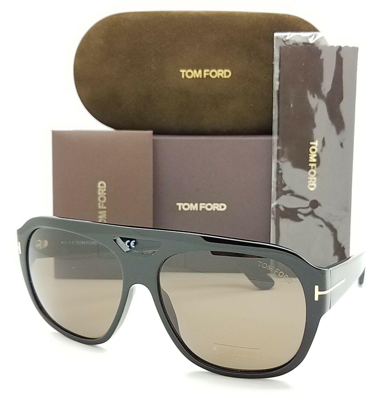 Tom Ford汤姆福特亮黑色棕色太阳眼镜Bachardy-02 FT0630/S 01J
