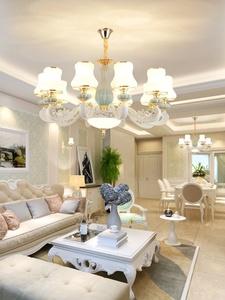 欧式吊灯客厅水晶吊灯轻奢锌合金灯饰家用大气卧室餐厅灯家装灯具