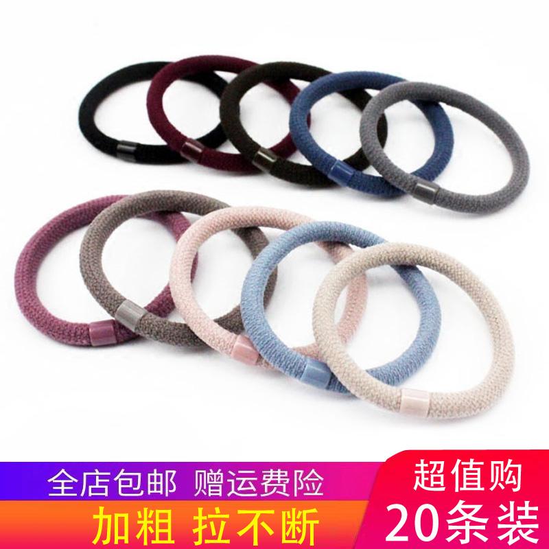 韩国强拉不断头绳女加粗耐用发圈高弹力发绳皮套扎头发橡皮筋包邮