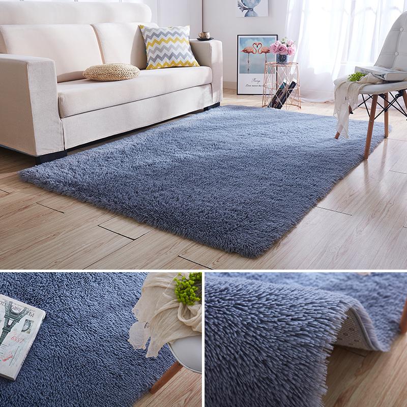 定制长毛绒小地毯客厅茶几毯卧室ins网红房间满铺出租屋改造地垫,可领取5元天猫优惠券