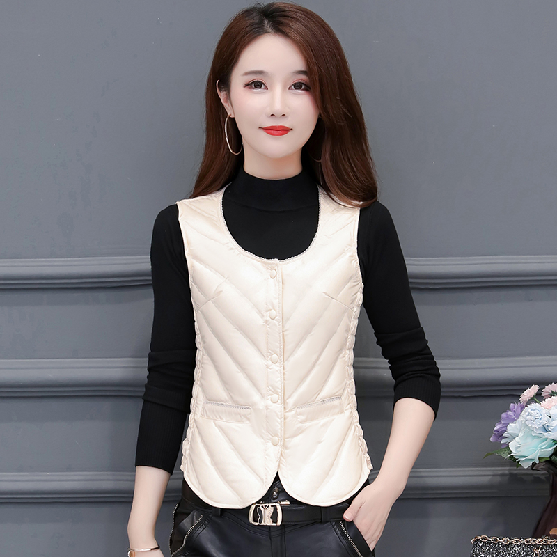 Autumn and winter new down vest for women