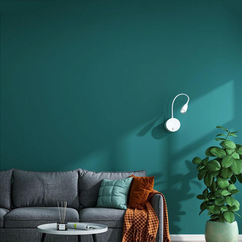北欧现代简约纯色素色壁布孔雀蓝墨绿色无缝卧室客厅电视背景墙布