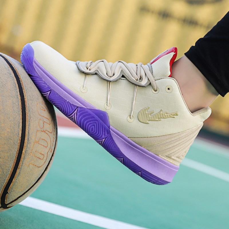 四季新款毒液限量版欧文5篮球鞋高帮球鞋男飞织埃及5代男士运动鞋