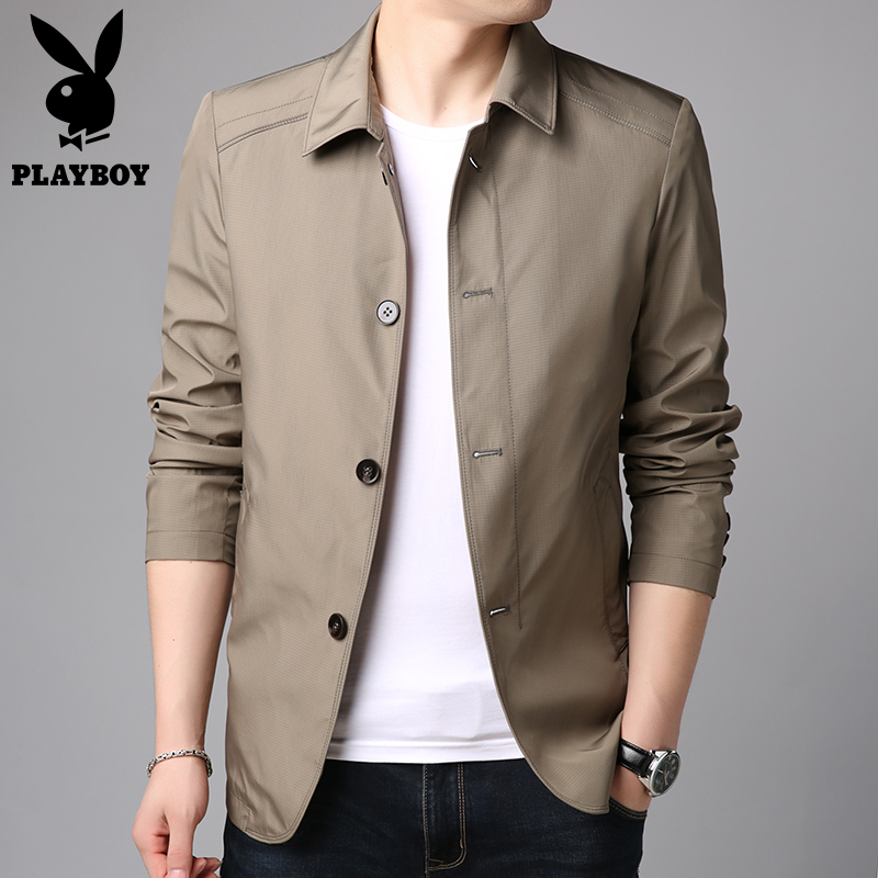 Playboy men's coat 2020 spring new business leisure jacket middle aged men's flagship spring top