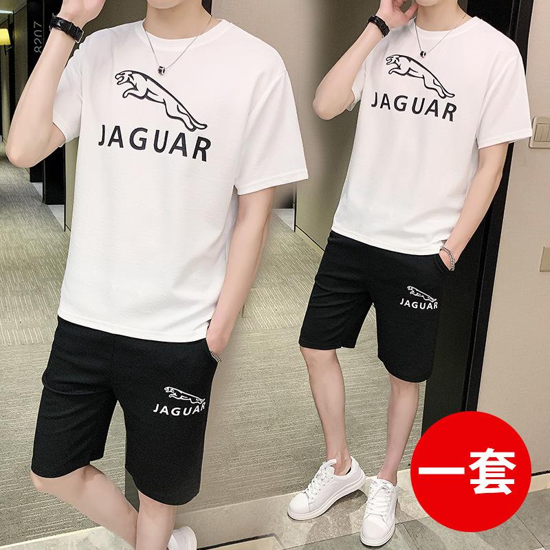 短袖男短裤运动套装夏天宽松t恤