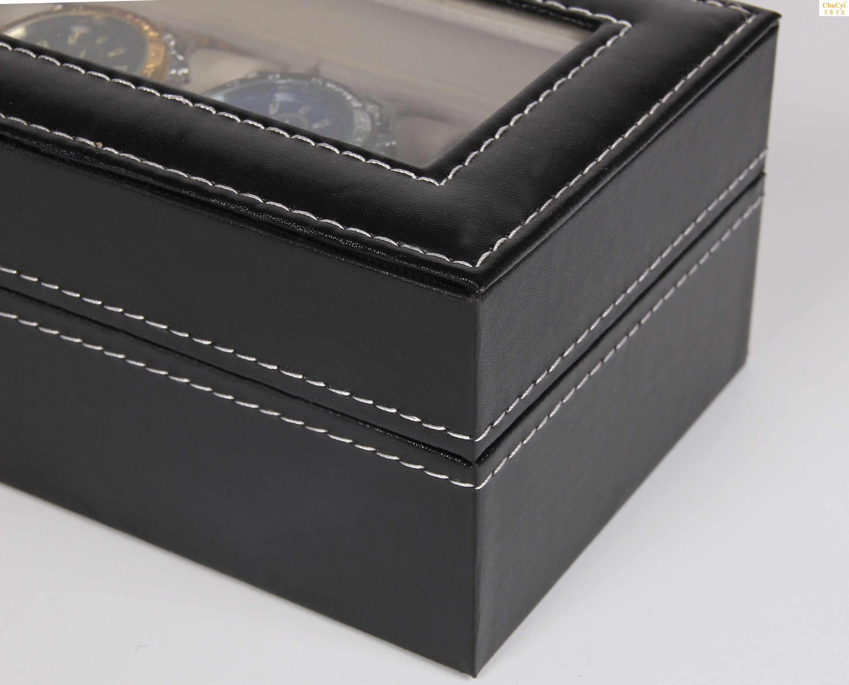 皮质首饰盒六位收纳盒 手表盒 pu手表展示盒 手表礼盒包装盒