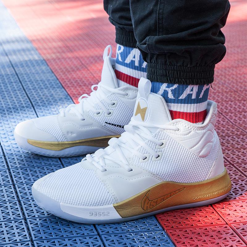 AJCB联名lhserndPG3保罗乔治3代 黑白金彩虹宇航员篮球鞋男鞋1