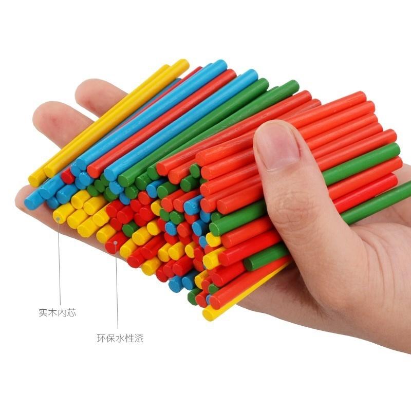 小童大班儿童玩具家用小棒数数棒数学大学习盒计算玩具学数板架,可领取1元天猫优惠券