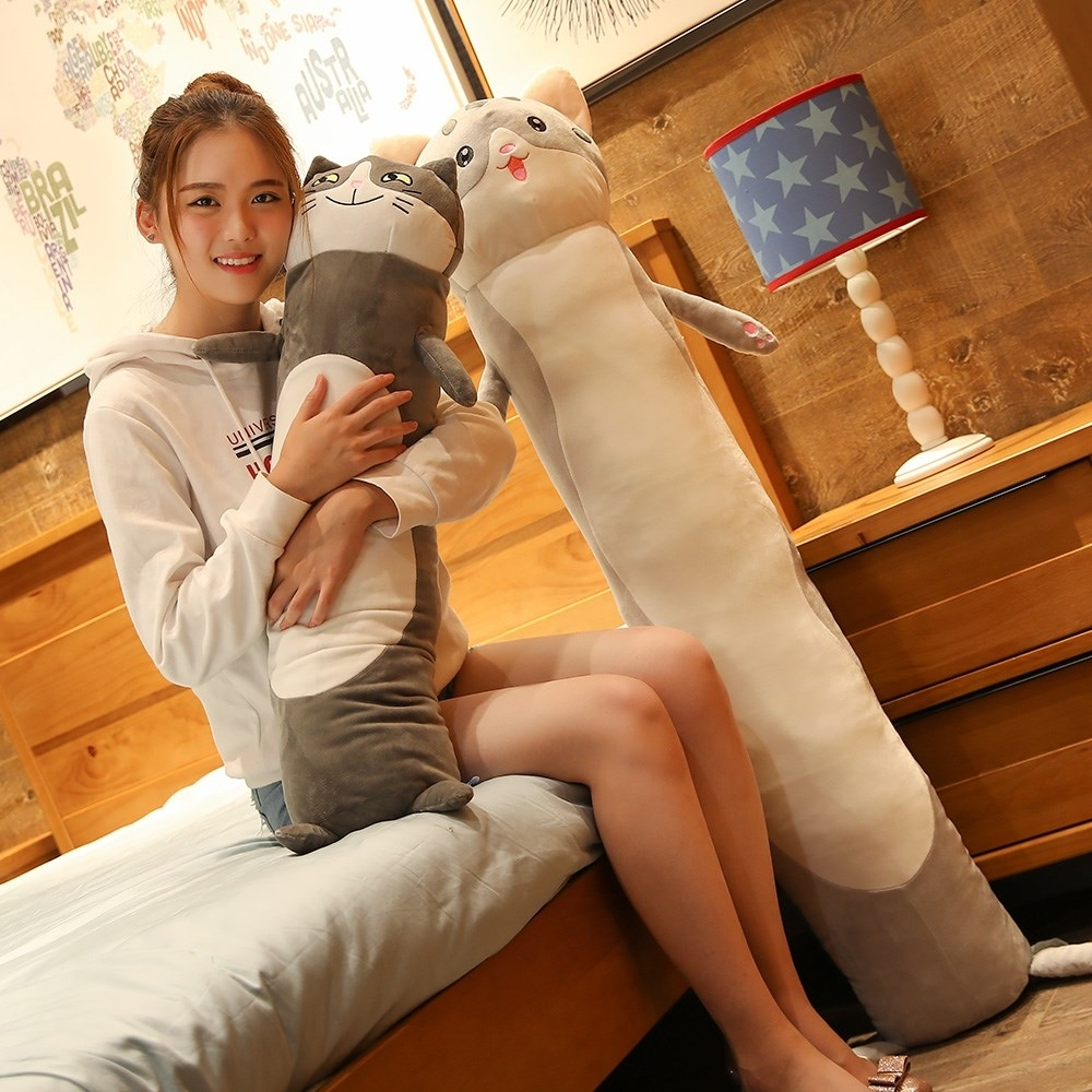 懒人抱枕大型长条大白猫睡觉专用男生款宿舍睡眠猫毛绒布艺类玩具,可领取1元天猫优惠券