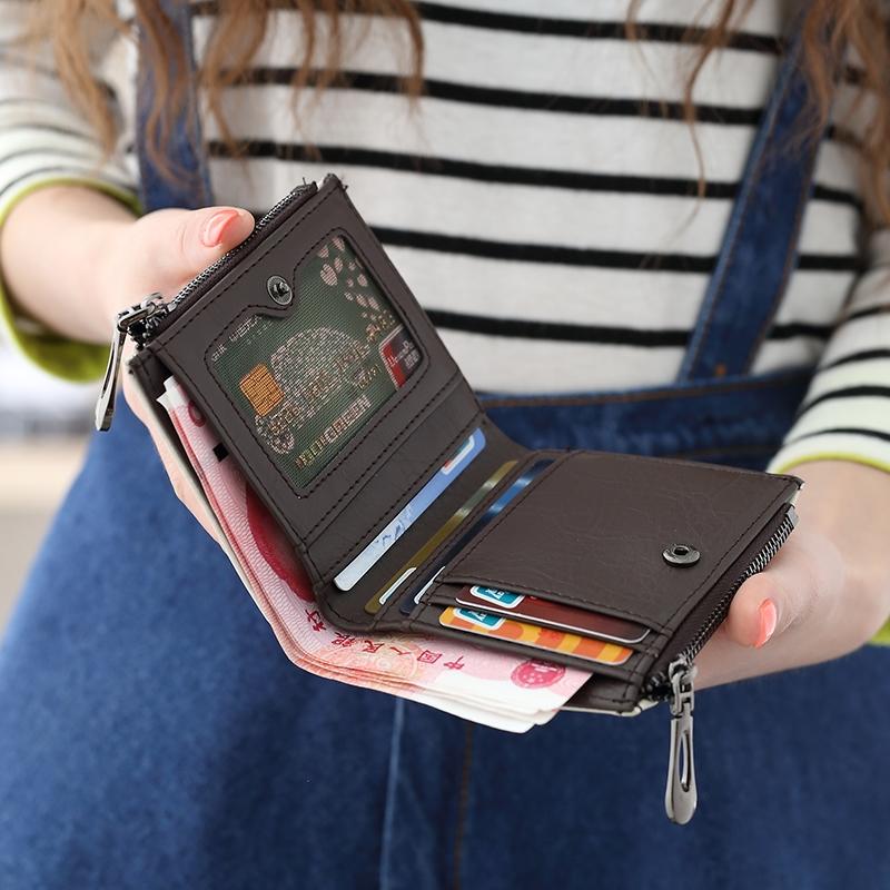女短款日韩版小清新学生折叠多功能零夹可爱女士钱包