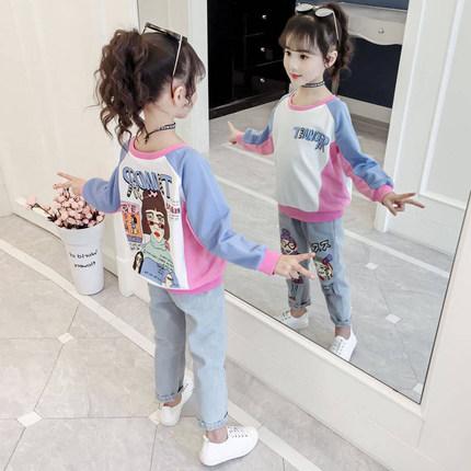 女童春装2020新款韩版儿童牛仔裤