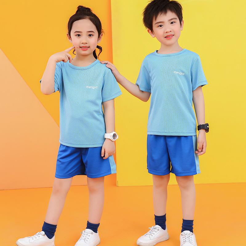 夏季儿童运动套装男童篮球服速干衣小女孩短袖T恤短裤跑步训练服