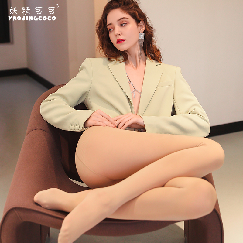 The new fairy cocoa bare legs supernatural nude artifact female flesh-colored anti-hook silk leggings plus velvet stockings autumn and winter