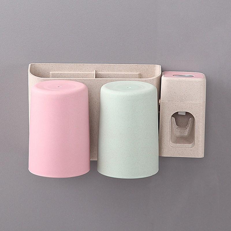 牙刷置物架两人用2个大学日式可爱套装卫生间口杯家用牙刷架漱口,可领取1元天猫优惠券