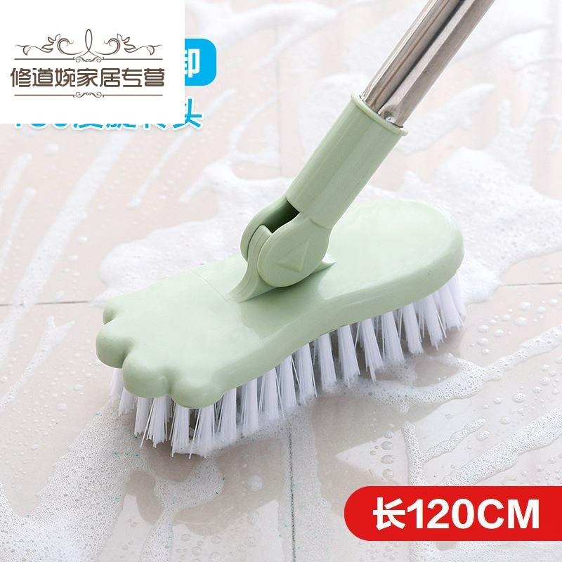 长柄地板刷可伸缩浴室厕所地板硬毛刷卫生间家用浴缸瓷砖清洁刷子,可领取1元天猫优惠券