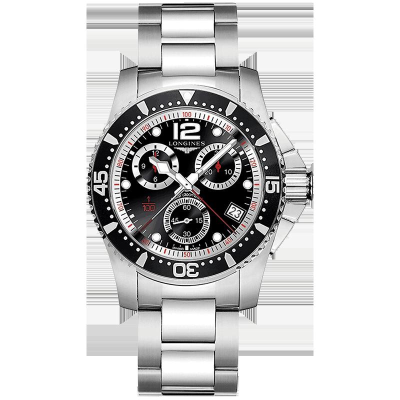 分期购瑞士浪琴康卡斯系列机械男表钢带手表L3.696.4.53.6/4.53.2