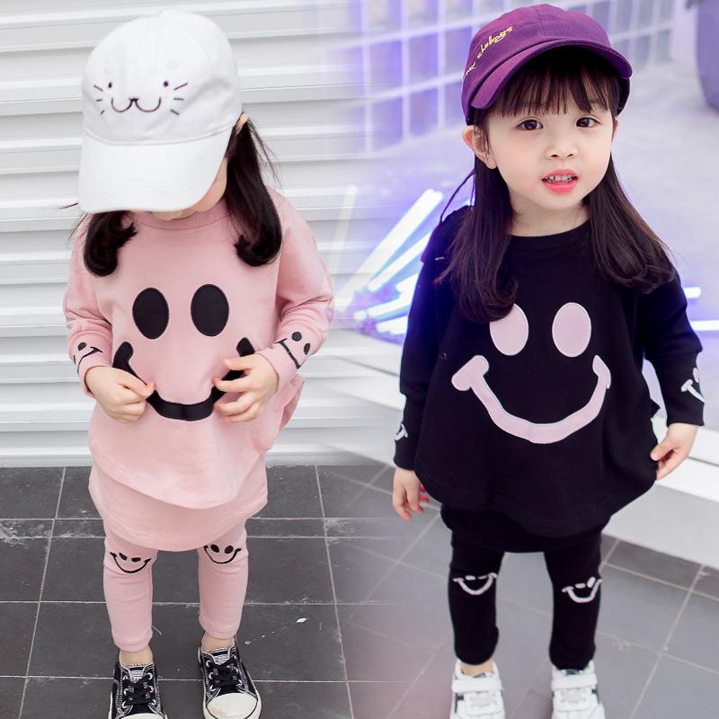 (用30元券)女宝宝秋装2019新款套装0一1-2-3岁韩版潮洋气儿童女童网红两件套