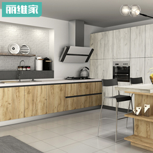 Livy home cabinet customized whole kitchen cabinet economical modern simple home customized quartz countertop