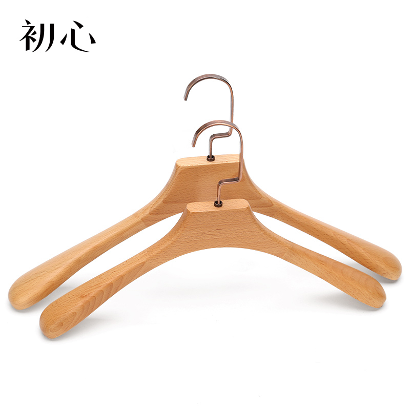 Solid wood clothes hanger household bedroom coat clothes hanger clothing store no trace clothes support simple baby anti slip clothes hanger