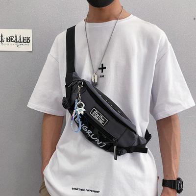 斜挎包男潮牌日系街头潮流运动款胸包男士腰包ins休闲包男斜肩包