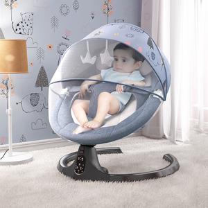 婴儿电动摇摇椅哄娃神器新生儿宝宝哄睡摇篮床带娃睡觉安抚椅躺椅