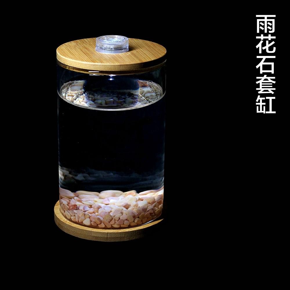 斗小型迷你生态玻璃小型桌面微景观赏办公室水族箱鱼缸瓶小型,可领取3元天猫优惠券