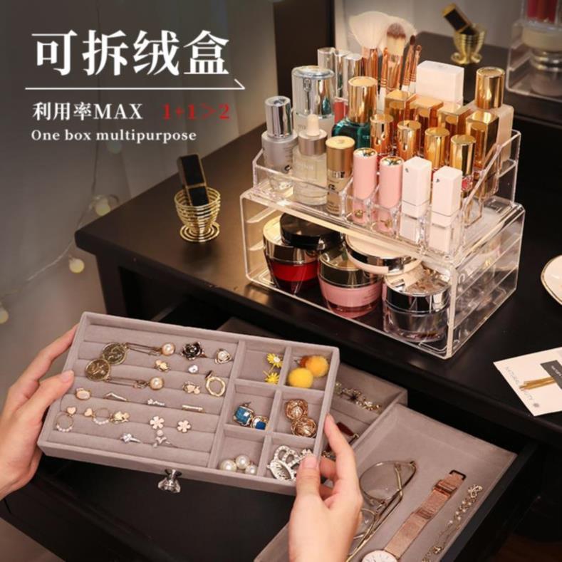 1 Bracelet drawer rack box storage earrings necklace box Earrings rack skin care products acrylic box acrylic