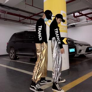 嘻哈套裝男女大人潮街頭夏帥氣韓版寬鬆街舞衣服酷爵士服裝演出