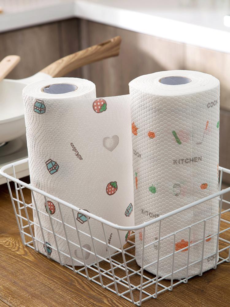 居家家一次性清洁懒人纸厨房吸油纸满5元可用3元优惠券