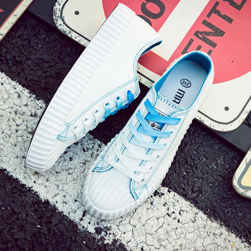 网红小白帆布女鞋2019夏款夏季新款百搭学生韩版流行春款布鞋子潮