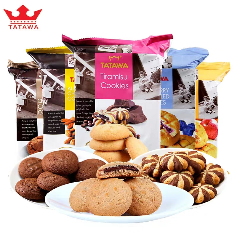 Tatawa imported soft filling cookie snack combination childrens breakfast 70g / bag