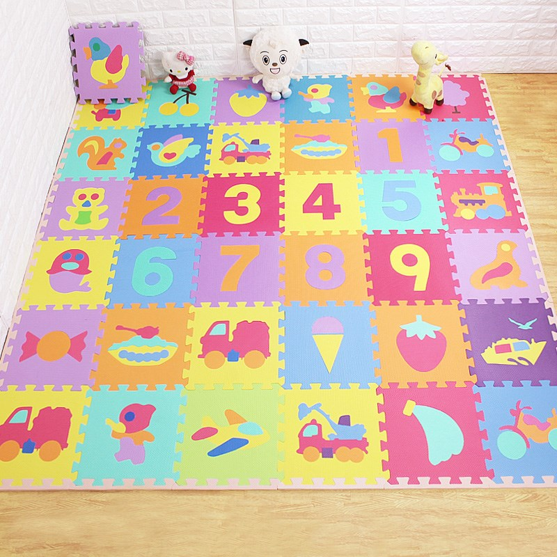 无味明德泡沫拼图地垫数字母宝宝爬爬垫婴儿童爬行垫拼接地板垫3012-01新券