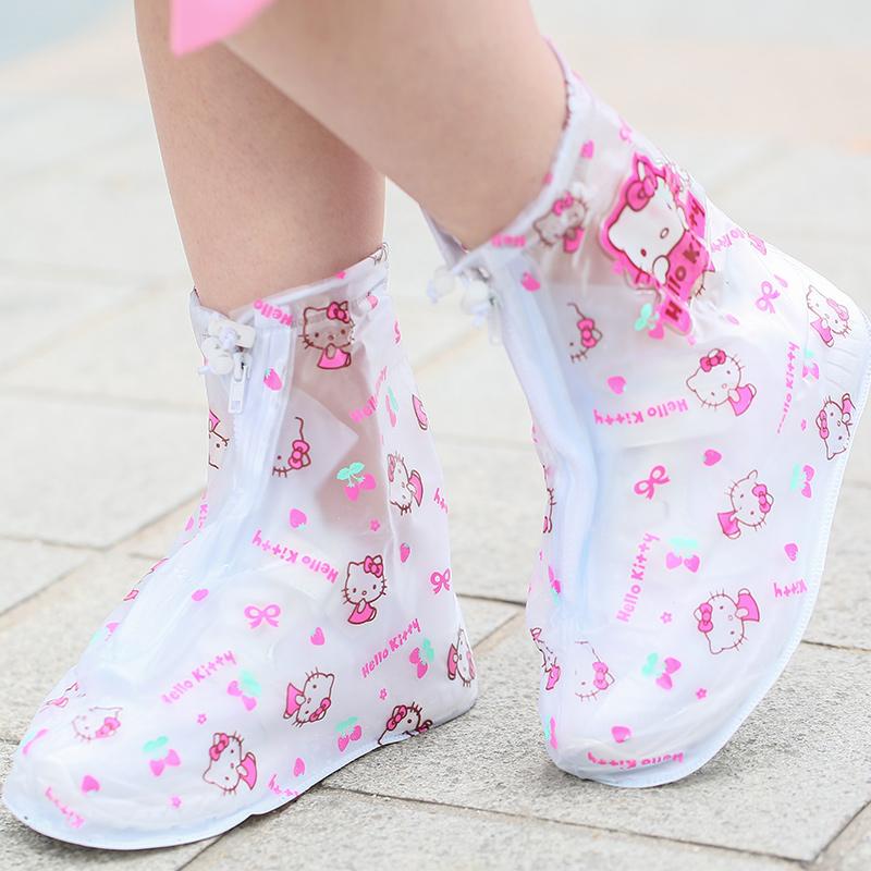 儿童防水鞋套宝宝幼儿园小学生女童小孩外穿防滑耐磨雨天防雨脚套
