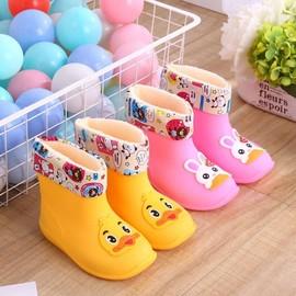 2.3.4.5.6周岁大小码女宝外穿软面1岁水鞋儿童雨靴子加棉女童学生