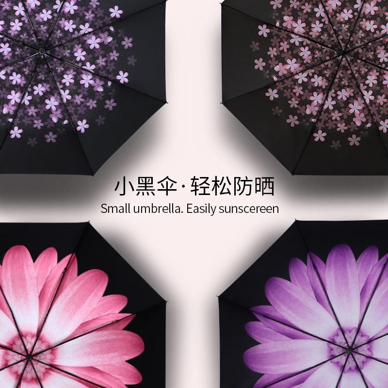 太阳城五折遮阳防晒女口袋伞太阳伞(非品牌)