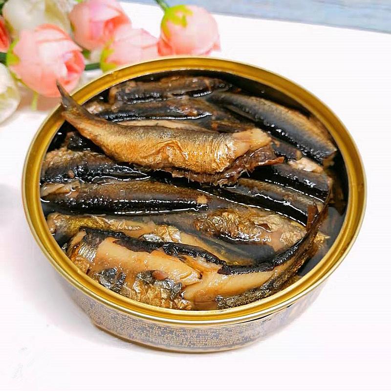 俄罗斯进口烟熏鱼罐头俄式风味橄榄油浸鲱鱼罐头开盖即食满39包邮