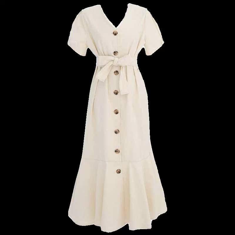 森系超仙学生到脚踝超长仙气连衣裙满159元可用20元优惠券