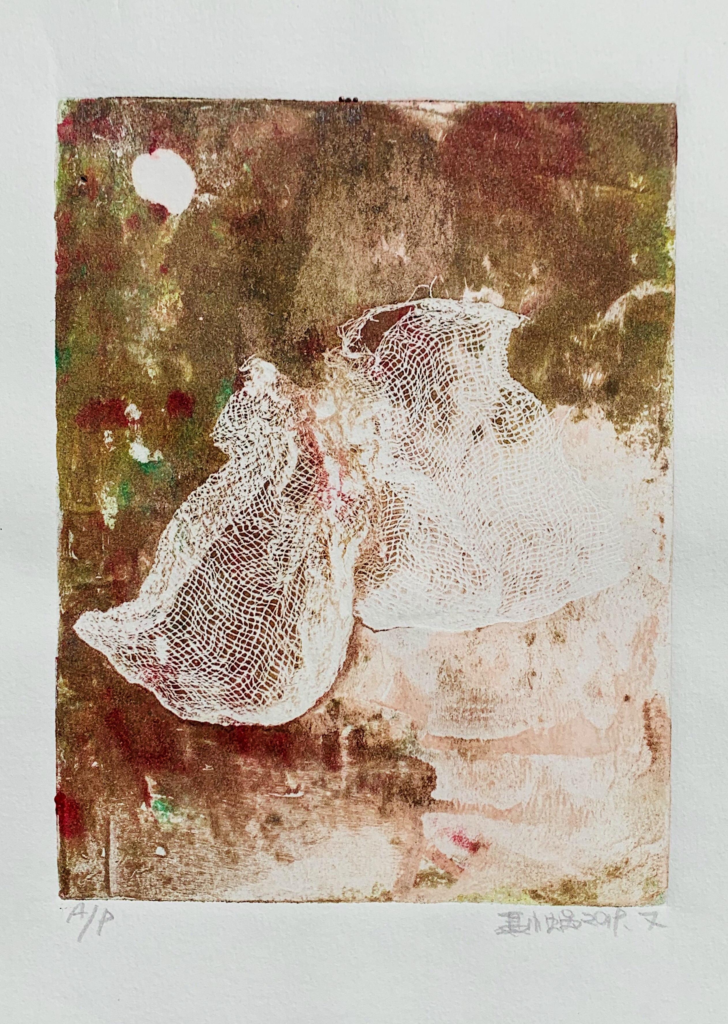 艺术签名收藏礼物海系列独幅版画原稿装饰摆挂