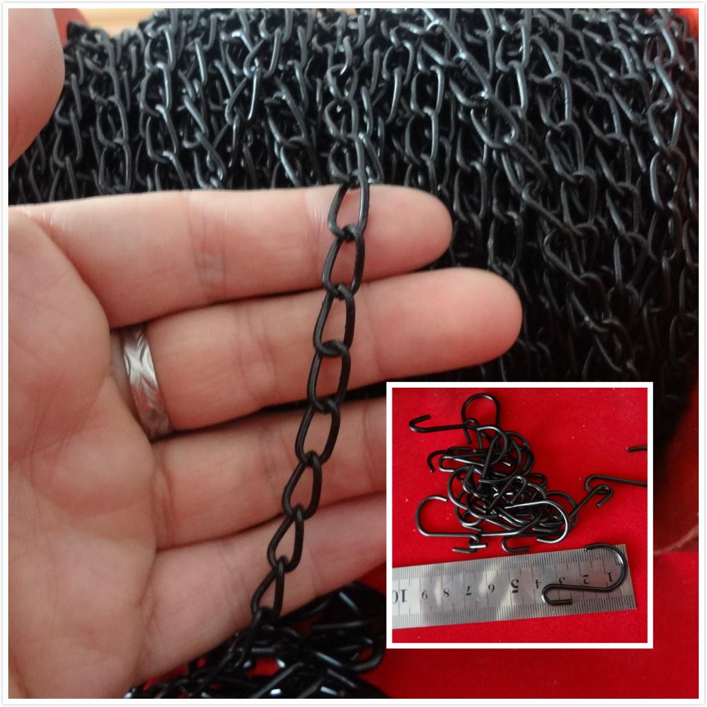 细1.5MM细链子吊链挂悬挂灯广告吊牌挂链黑色银色金色小铁链条
