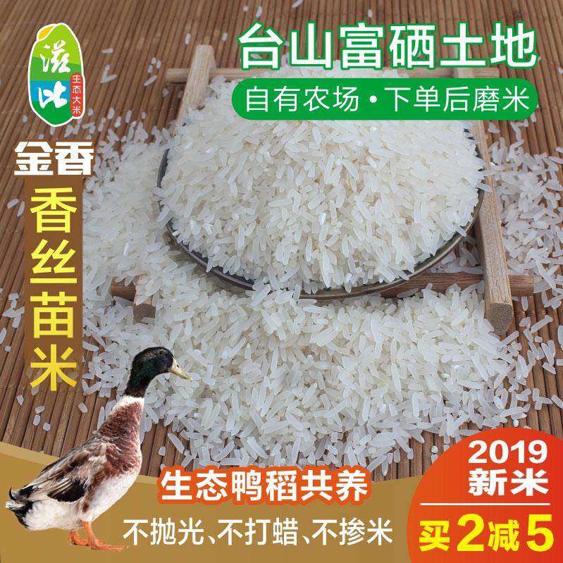 滋比 金香丝苗米5kg长粒香米煲仔饭广东农家台山优质新米10斤大米