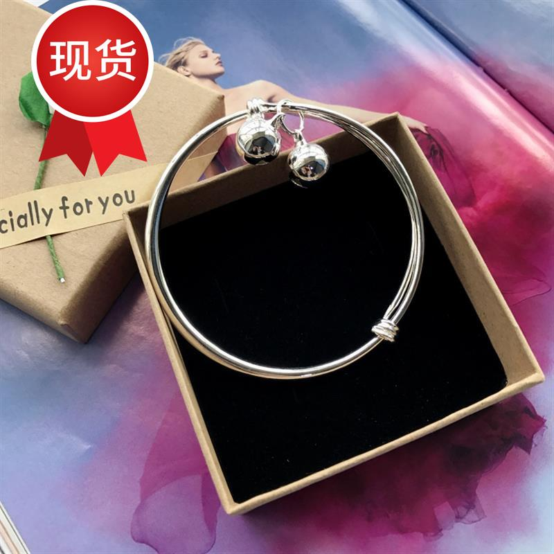 New Korean version small bell anklet silver fashion Anklet girls smooth simple and versatile temperament J Anklet