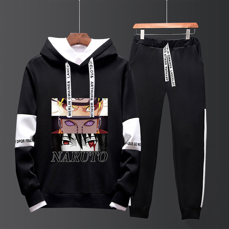 Fall 2019 sweater suit mens Japanese Naruto leisure sports trend junior high school boys clothes