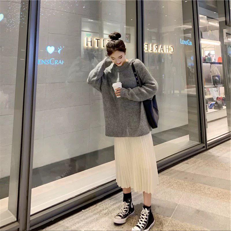 毛衣套装两件套长裙显瘦显高气质egg法式初恋很仙2019早秋装新款11-08新券